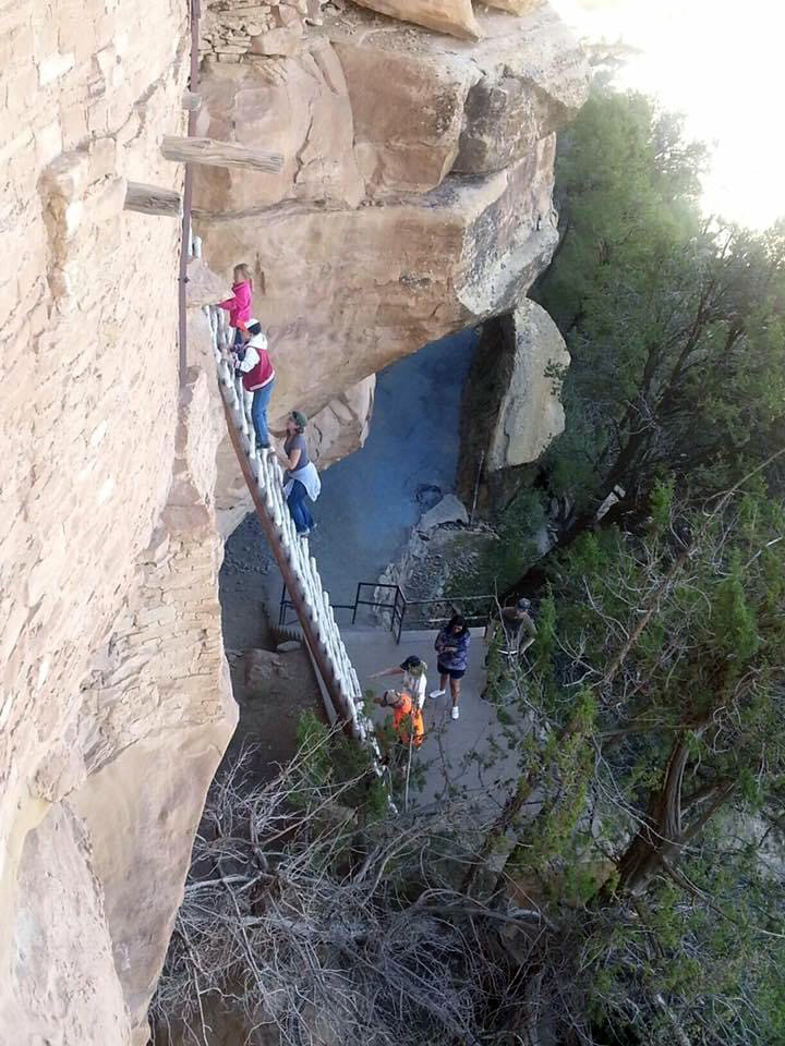 My Kind of Livable: To walk in the paths of those who came before us. The climb up from Balcony House at Mesa Verde is always a go-to destination when we have company. Sometimes it really pushes a person outside their comfort zone to climb up the rock face.