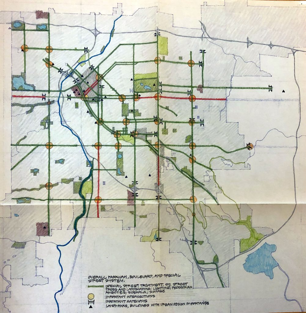 My Kind of Livable: City planners with a vision for creating community green spaces. Inspired by the City Beautiful movement, early 20th century planners created ample neighborhood parks and parkways in Denver, including the parkway I live on, which is 101 years old!