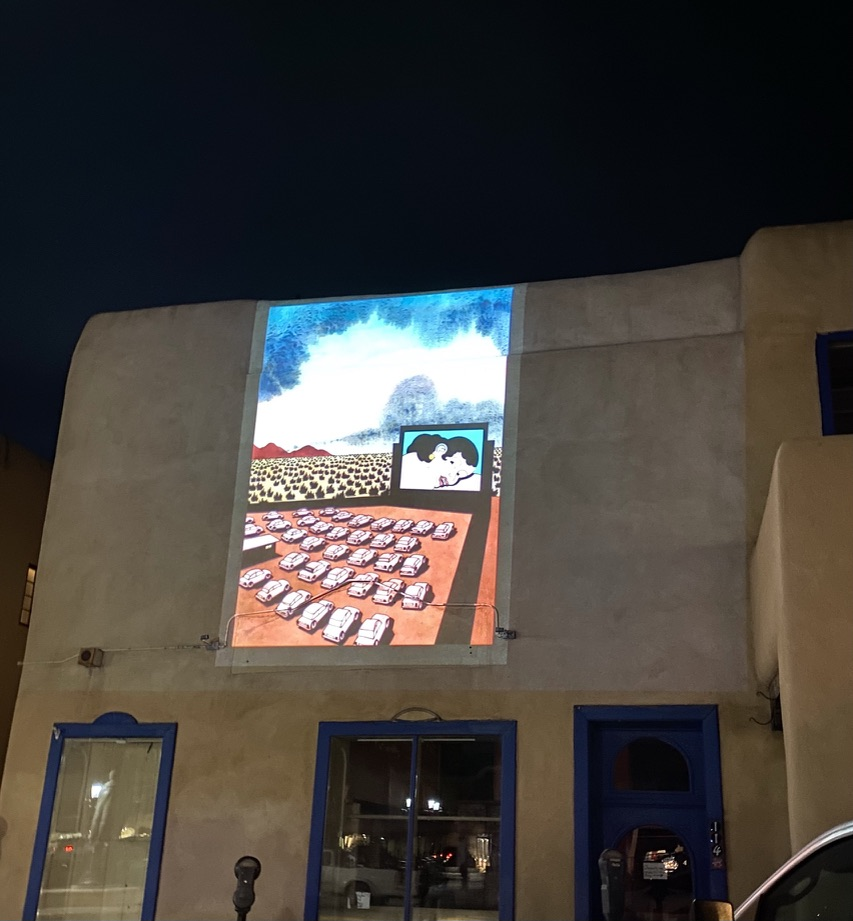 My Kind of Livable: A robust and engaged arts scene. The Taos Spring Arts featured projections throughout the Taos Historic District, curated by The Paseo Project and many local artists.